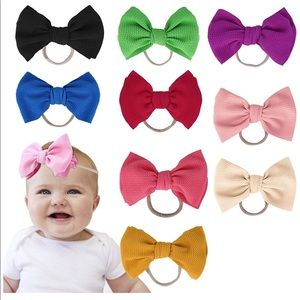 Other - NWT Baby Girl Headbands Elastic Bows Headband
